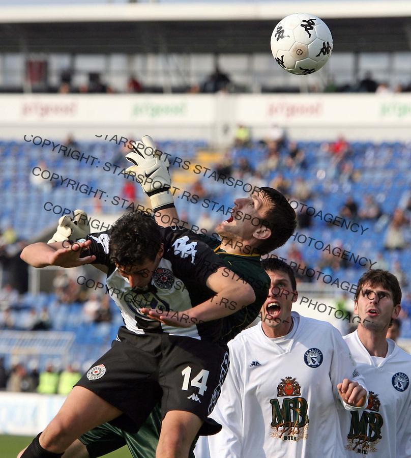 Sport Fudbal Soccer Football Meridian Super Liga Partizan Hajduk Kula Djuricic Andjelko 18.3.2007. photo: Pedja Milosavljevic