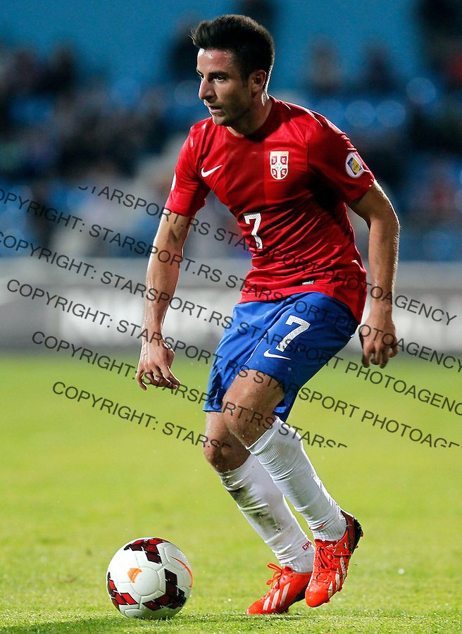 Fudbal Soccer<br /> World Cup 2014 qualifiers match<br /> Serbia v Macedonia<br /> Zoran Tosic<br /> Jagodina, 15.10.2013.<br /> foto: Srdjan Stevanovic/Starsportphoto &copy;