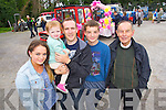 Edel O'Sullivan, Kaylee and James Flynn (Killorglin) Daniel Cronin (Milltown) and Coleman Cronin (Castlemaine)  pictured at Castlemaine vintage day on Sunday.