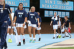 24 August 2014: North Carolina's Alex Kimball (47) and Emily Bruder (2). The University of North Carolina Tar Heels hosted the Ohio State University Buckeyes at Fetzer Field in Chapel Hill, NC in a 2014 NCAA Division I Women's Soccer match. UNC won the game 1-0.