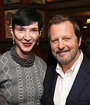 Amy Fine and Rob Ashford during the Rob Ashford portrait unveiling for the Sardi's Wall of Fame on October 10, 2018 at Sardi's Restaurant in New York City.