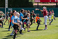 STANFORD, CA -- April 15, 2018. <br /> Nikki Bauer at softball clinic after the Stanford Cardinal women's softball team loss to the Oregon State Beavers at the Smith Family Stadium 12-1.