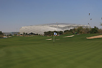 Education City Stadium behind the 18th green during the Preview of the Commercial Bank Qatar Masters 2020 at the Education City Golf Club, Doha, Qatar . 03/03/2020<br /> Picture: Golffile   Thos Caffrey<br /> <br /> <br /> All photo usage must carry mandatory copyright credit (© Golffile   Thos Caffrey)