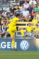 3 JULY 2010:  Adam Moffat of the Columbus Crew (22) during MLS soccer game between Chicago Fire vs Columbus Crew at Crew Stadium in Columbus, Ohio on July 3, 2010.