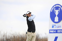 Joakim Lagergren (SWE) on the 4th tee during Round 1 of the Open de Espana 2018 at Centro Nacional de Golf on Thursday 12th April 2018.<br /> Picture:  Thos Caffrey / www.golffile.ie<br /> <br /> All photo usage must carry mandatory copyright credit (&copy; Golffile | Thos Caffrey)