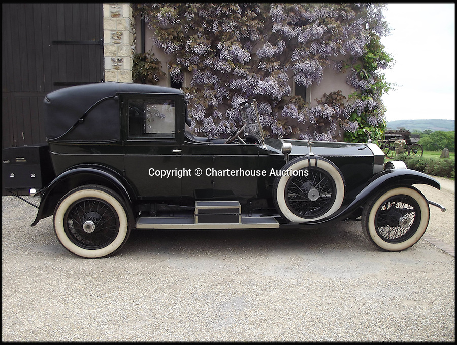 BNPS.co.uk (01202 558833)Pic: Charterhouse/BNPS<br /> <br /> An iconic Rolls-Royce that graced the silver screen alongside Robert Redford and Mia Farrow is expected to fetch £140,000 at auction.<br /> <br /> The 1922 Rolls-Royce Silver Ghost was used as Daisy Buchanan's chauffeur-driven car in the 1974 classic The Great Gatsby and appears in-shot throughout the film alongside the leading actors.<br /> <br /> With bodywork made by coachbuilder Willoughby, who only made 30 bodies for the Silver Ghost, the car is very rare and in great condition.<br /> <br /> It has also racked up just 38,000 miles on the clock in its 93-year history.