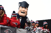 February 4, 2015 - Boston, Massachusetts, U.S. -  Pat the Patriots rides on the back of a truck during a parade held in Boston to celebrate the team's victory over the Seattle Seahawks in Super Bowl XLIX. Eric Canha/CSM
