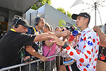 Warren Barguil (FRA) Team Sunweb retains the Polka Dot Jersey at the end of Stage 16 of the 104th edition of the Tour de France 2017, running 165km from Le Puy-en-Velay to Romans-sur-Isere, France. 18th July 2017.<br /> Picture: ASO/Bruno Bade | Cyclefile<br /> <br /> <br /> All photos usage must carry mandatory copyright credit (&copy; Cyclefile | ASO/Bruno Bade)