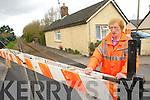 Ina O'Donnell pictured.on her last day of work.at the level crossing at.Clash, Tralee
