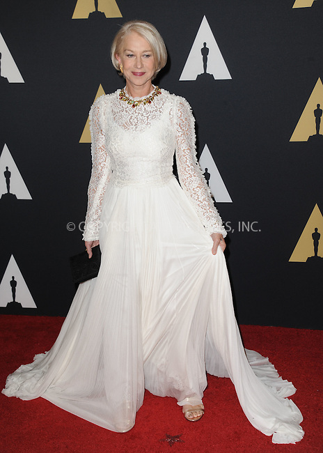 WWW.ACEPIXS.COM<br /> <br /> November 14 2015, LA<br /> <br /> Helen Mirren arriving at the Academy of Motion Picture Arts and Sciences' 7th Annual Governors Awards at The Ray Dolby Ballroom at the Hollywood &amp; Highland Center on November 14, 2015 in Hollywood, California<br /> <br /> <br /> By Line: Peter West/ACE Pictures<br /> <br /> <br /> ACE Pictures, Inc.<br /> tel: 646 769 0430<br /> Email: info@acepixs.com<br /> www.acepixs.com