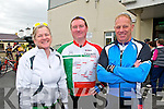 Nortk Kerry Spring Cycling Classic: Taking part in the North Kerry Spring  Cycling Classic organised by the Finuge Freewheelers Cycling club & Ballybunion Sea & Cliff Resue held in Ballybunion on Sunday last were June Moloney, Tim Leahy & Noel Hillard