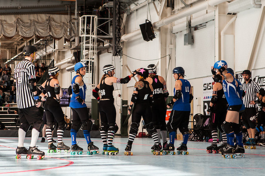 The Wasatch Roller Derby (#9) defeated the Arizona Derby Girls (#7) 245-134 for 9th place at the WFTDA West Region Tournament.