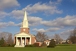 Rooke Chapel with Holiday Wreaths. Bucknell University, Lewisburg, PA.