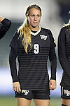 02 November 2012: Wake Forest's Jessica Mandarich. The Wake Forest University Demon Deacons played the University of Maryland Terrapins at WakeMed Stadium in Cary, North Carolina in a 2012 NCAA Division I Women's Soccer and Atlantic Coast Conference Tournament semifinal game. Maryland won the game 2-0.