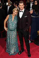HOLLYWOOD, LOS ANGELES, CA, USA - MARCH 02: Elsa Pataky, Chris Hemsworth at the 86th Annual Academy Awards held at Dolby Theatre on March 2, 2014 in Hollywood, Los Angeles, California, United States. (Photo by Xavier Collin/Celebrity Monitor)