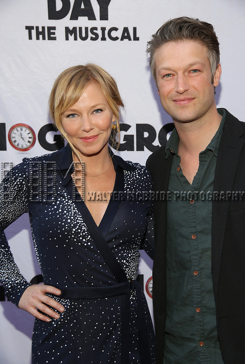 Kelli Giddish and Peter Scanavino attends the Broadway Opening Night performance of 'Groundhog Day' at the August Wilson Theatre on April 17, 2017 in New York City