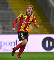 20191102 - LENS , FRANCE : Arras' Caroline Denis pictured during the female soccer match between Arras Feminin and Lille OSC feminin, on the 8th matchday in the French Women's Ligue 2 – D2 at the Stade Bollaert Delelis stadium , Lens . Saturday 2 November 2019 PHOTO DAVID CATRY | SPORTPIX.BE