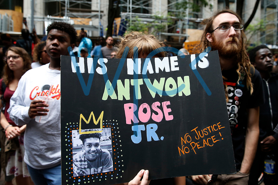 Members of the community attend a rally for Antwon Rose, the 17-year old who was shot and killed by East Pittsburgh police. (Photo by Jared Wickerham/For Pittsburgh Current)