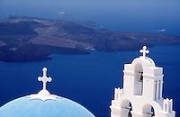 Greece Santorini The orthodox church in Firostefani