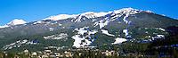 Blackcomb Mountain Ski Runs, Whistler Ski Resort, BC, British Columbia, Canada, Winter - Panoramic View