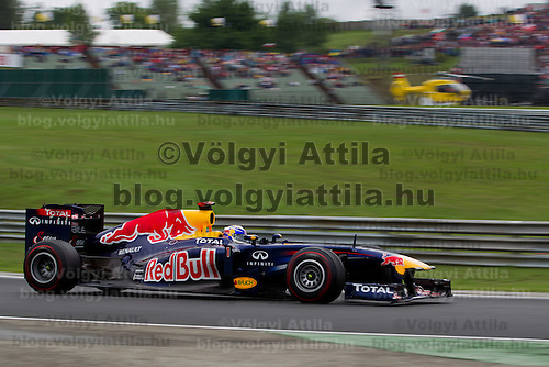 Red Bull Racing Formula One driver Sebastian Vettel of Germany drives his car during Hungarian F1 Grand Prix in Mogyorod (about 20km north-east from Budapest), Hungary. Sunday, 31. July 2011. ATTILA VOLGYI