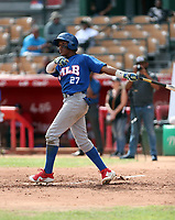 Misael Urbina participates in the MLB International Showcase at Estadio Quisqeya on February 22-23, 2017 in Santo Domingo, Dominican Republic.
