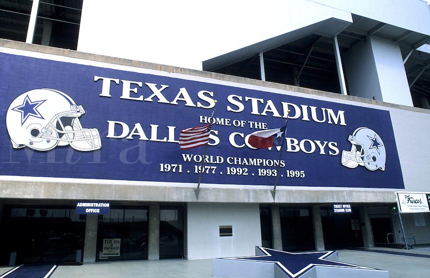 Irving, Texas. Texas stadium home of the Dallas Cowboys
