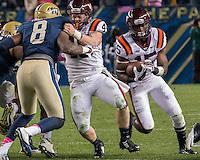 Virginia Tech running back Joel Caleb (15). The Pitt Panthers defeated the Virginia Tech Hokies 21-16 at Heinz Field, Pittsburgh Pennsylvania on October 16, 2014