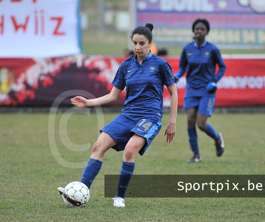 Switzerland U19 - France U19 : Ghoutia Karchouni.foto DAVID CATRY / Nikonpro.be