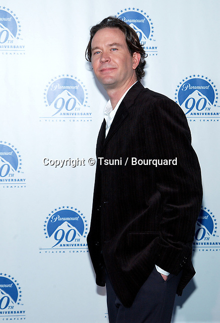 "Timothy Hutton arriving at Paramount Pictures for ""90 Stars for 90 years"" on the Paramount lot in Los Angeles. July 14, 2002.            -            HuttonTimothy02.jpg"