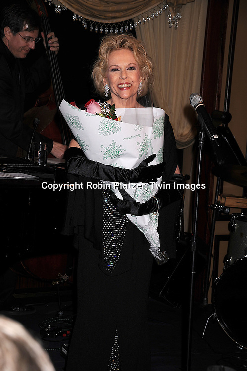 Eileen Fulton singing..at her engagement at Feinsteins at The Loews Regency on ..April 27, 2008 in New York City. .. ..Robin Platzer, Twin Images
