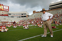 TALLAHASSEE, FL 10/31/09-FSU-NCST FB09 CH07-Florida State Head Coach Bobby Bowden watches his team prior to the N.C. State game Saturday at Doak Campbell Stadium in Tallahassee. .COLIN HACKLEY PHOTO