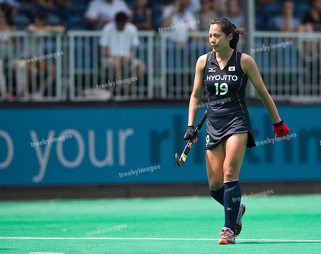 03/07/2015<br /> HWL Semi Final Antwerp Belgium 2015<br /> Japan v India Women<br /> Mayumi Ono<br /> Photo: Grant Treeby