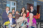 COFFEE: Enjoying their coffee morning to raise funds for Daffodill day in The Community Centre Ardfert on Friday Front l-r: Josephine O'Riordan, Philomena Stack and Nancy Kelly. Back l-r: Pat Egan, Rosanne and Clara Daly, Joanne and Eoin Melick and Sheila Leen.................................. ....