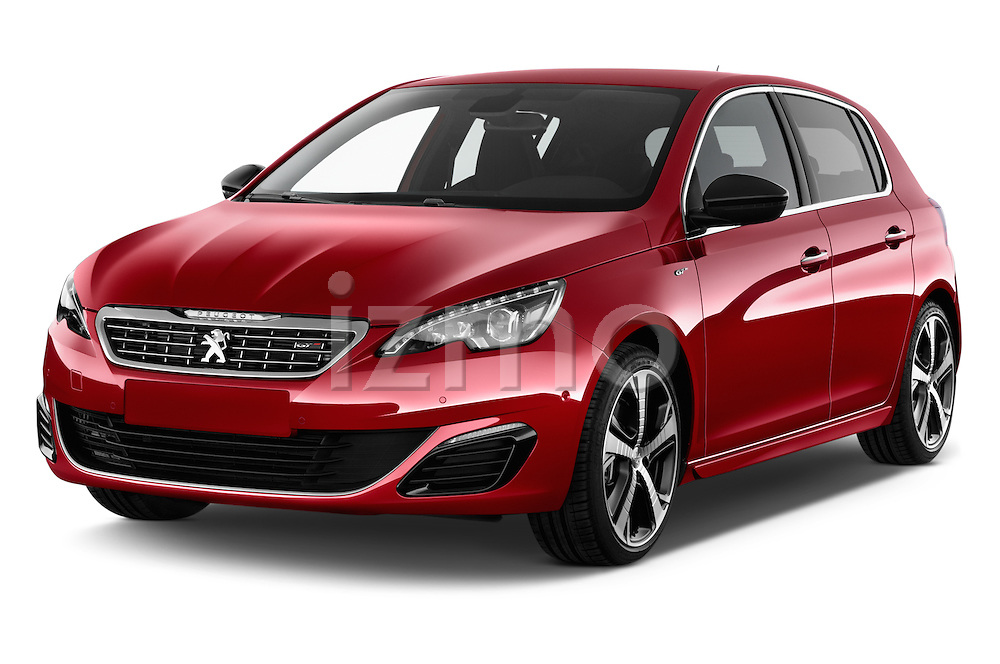 2015 Peugeot 308 GT 5 Door Hatchback Angular Front stock photos of front three quarter view