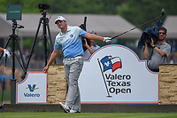 Brian Stuard (USA) watches his tee shot on 11 during day 3 of the Valero Texas Open, at the TPC San Antonio Oaks Course, San Antonio, Texas, USA. 4/6/2019.<br /> Picture: Golffile | Ken Murray<br /> <br /> <br /> All photo usage must carry mandatory copyright credit (&copy; Golffile | Ken Murray)