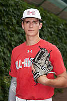Ben Jordan (3) of West Carter County High School in Olive Hill, Kentucky poses for a photo before the Under Armour All-American Game presented by Baseball Factory on July 23, 2016 at Wrigley Field in Chicago, Illinois.  (Mike Janes/Four Seam Images)
