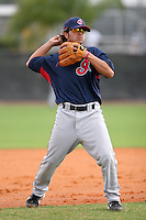 Cleveland Indians minor leaguer Keoni De Renne during Spring Training at the Chain of Lakes Complex on March 16, 2007 in Winter Haven, Florida.  (Mike Janes/Four Seam Images)