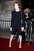 LONDON, ENGLAND - FEBRUARY 09 :  Eleanor Tomlinson arrives at the Charles Finch and Chanel pre-BAFTA party at Loulou's on February 09, 2019 in London, England.<br /> CAP/AH<br /> &copy;Adam Houghton/Capital Pictures
