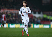2nd December 2017, Griffen Park, Brentford, London; EFL Championship football, Brentford versus Fulham; Stefan Johansen of Fulham watches play take shape