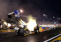 Aug. 31, 2012; Claremont, IN, USA: NHRA top fuel dragster driver Brandon Bernstein during qualifying for the US Nationals at Lucas Oil Raceway. Mandatory Credit: Mark J. Rebilas-