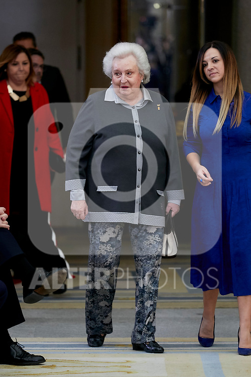 Pilar de Borbon attends to National Sports Awards at Royal Palace of el Pardo in Madrid, Spain. January 10, 2019. (ALTERPHOTOS/A. Perez Meca) (ALTERPHOTOS/A. Perez Meca)