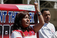 Parents and relatives of the missing 43 students of Ayotzinapa, Mexico, hold a press conference at the steps of the New York City Hall in New York.  04/22/2015. Gary Hershorn / VIEWpress