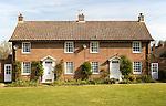 Semi detached housing, Shottisham, Suffolk, England, UK