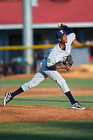 Princeton Rays starting pitcher Resly Linares (30) delivers a pitch to the plate against the Burlington Royals at Burlington Athletic Stadium on June 24, 2016 in Burlington, North Carolina.  The Rays defeated the Royals 16-2.  (Brian Westerholt/Four Seam Images)