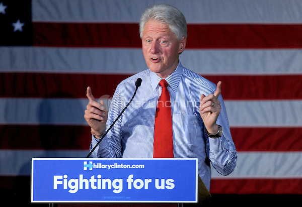 EDISON, NJ - MAY 27: Former President Bill Clinton campaigns for wife Hillary Clinton at Edison High School in Edison, New Jersey on May 27, 2016. Credit: Dennis Van Tine/MediaPunch