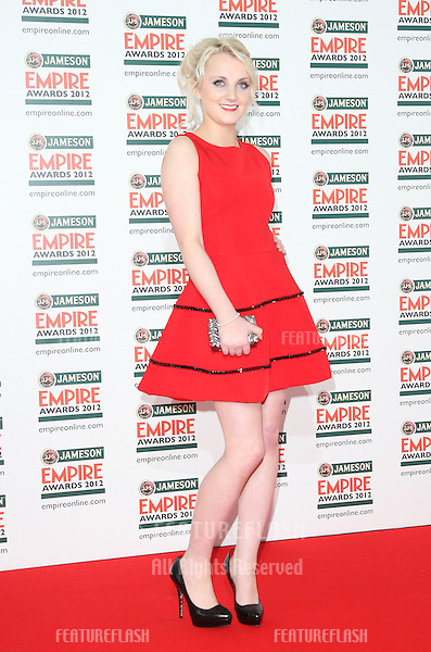 Evanna Lynch arriving for  the Empire Film Awards 2012 at the Grosvenor House Hotel, London. 25/03/2012 Picture by: Henry Harris / Featureflash