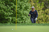 Joost Luiten (NLD) acknowledges the crowd after chipping up tight on 14 during round 4 of the 2019 PGA Championship, Bethpage Black Golf Course, New York, New York,  USA. 5/19/2019.<br /> Picture: Golffile | Ken Murray<br /> <br /> <br /> All photo usage must carry mandatory copyright credit (© Golffile | Ken Murray)