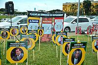 BRASÍLIA, DF, 30.03.2016 – MAPA-IMPEACHMENT – Placar da votação do impeachment da presidente Dilma Rousseff em frente ao Congresso Nacional, na manhã desta quarta-feira, 30. (Foto: Ricardo Botelho/Brazil Photo Press)
