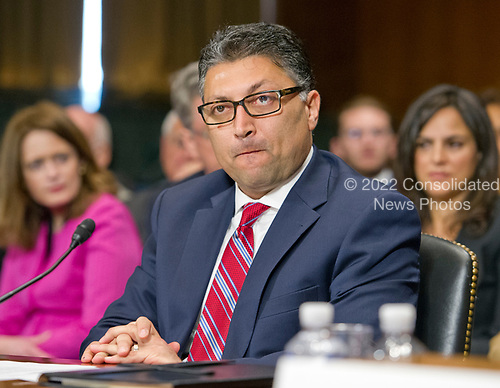 Makan Delrahim testifies before the United States Senate Committee on the Judiciary on his nomination to be an Assistant Attorney General, Antitrust Division of the US on Capitol Hill in Washington, DC on Wednesday, May 10, 2017.<br /> Credit: Ron Sachs / CNP